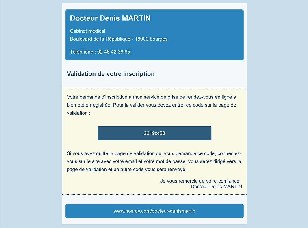 exemple d'emails